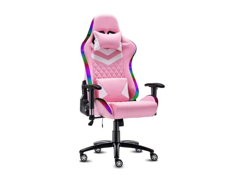 Modern-Depo High-Back Ergonomic Gaming Chair with RGB LED Lights